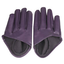 Hot Woman Girls Tight Half Palm Gloves Imitation Leather Five Finger Vivid Color