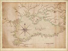MAP ANTIQUE 1697 TURKISH ORIGIN BLACK SEA AREA LARGE REPRO POSTER PRINT PAM0174