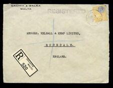 George V (1910-1936) Cover Maltese Stamps (Pre-1964)