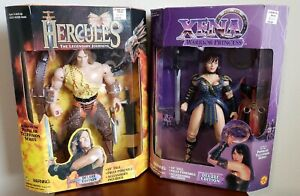 """Hercules & Xena Warrior Princess Dynamic Duo 12"""" inch Action Figures - Lot of 2"""
