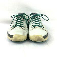 Ecco Biom Golf Shoes Mens SZ 45 Golf/Walking Shoes Yak Leather White Green
