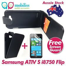 PU Leather Flip Case Cover with Wallet Card Holders for Samsung Ativ S i8750 +SP
