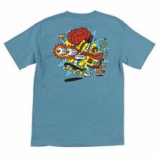 Santa Cruz Skate Brain Skateboard Shirt Blue Xl