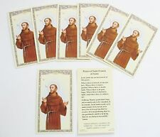 Lot of 25 Holy Cards, Prayer Cards of St. Francis of Assisi