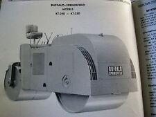 Buffalo Springfield Kt 24d Amp Kt 25d Asphalt Road Roller Service Amp Parts Manual