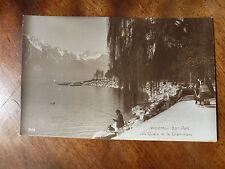 Lot57d SWITZERLAND Lake & Docks - Fishing MONTREUX BON PART Postcard c1910