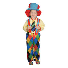 Circus Clown Carnival Hobo Deluxe Child Costume w/Hat