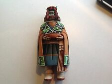 """Wood Hopi Carved 10 1/2"""" Crow Mother Kachina Doll Sculpture by Carlton Timms"""