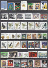 Collection Of EIRE Ireland Modern Self Adhesive Used Stamps ON PAPER