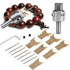 16x/set Carbide Ball Blade Cutting DIY Woodworking Wood Beads Drill Molding Tool