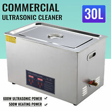 Professional 30L Ultrasonic Cleaning Jewelry Cleaner Machine w/ Heater&Timer