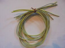 "Approx. 3 MM Leather Cords/Strings - Yellow - 5 pieces 40"" Long Over 200"" Total"