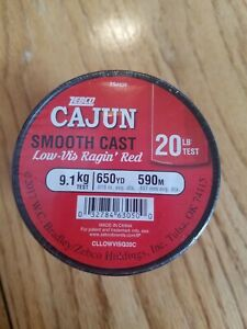 Zebco Cajun Smooth Cast Low-Vis Ragin Red Finishing Line 12 14 17 20 lb NEW!