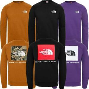 The North Face Raglan Back Box Mens Crewneck Sweatshirt Black Winter Warm Jumper