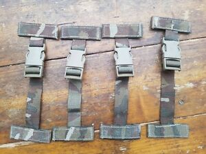 British Army Osprey Molle Pack of 4x T Bar Side Clips / Straps Grade 2 VERY WORN