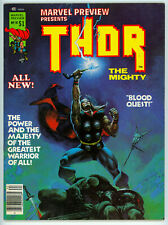 MARVEL PREVIEW #10 (Marvel 1975) THOR! VF! NO RES!
