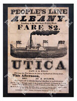 Historic Steamboat Utica, Albany Advertising Postcard