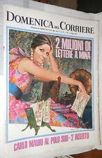 LA DOMENICA DEL CORRIERE 14 maggio 1968 Mina Vietnam Catania Snobismo Droga di e
