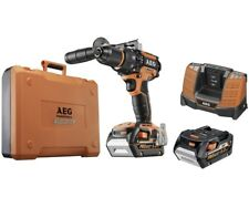 AEG 18v CORDLESS BRUSHLESS COMBI COMPLETE WITH X2 6.0AH BATTERIES 40 MIN CHARGE