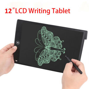 """12"""" LCD Tablet Drawing Writing Board Kid Notepad Writer Digital Graphic Gift Set"""