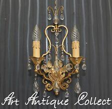 Antik Stil Wand Lampe Leuchte Florentiner Toleware Kristallglas Wall Led Light