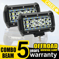 2x 5INCH 688W Phare de Travail Cree Barre LED Feux Projecteur Offroad 12V 24V