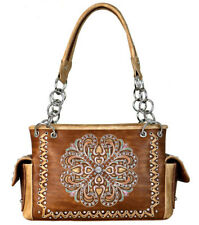Montana West  Concealed Carry Satchel ~ Concho Collection ~ Brown
