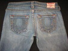 True Religion Womens Jeans Johnny Big T Straight Leg Dsitressed  Sz 29