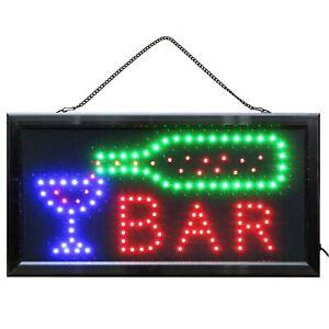 LED Schild BAR beleuchtet  Leuchtschild Leuchtreklame Drinks Nightlife barschild