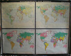 Schulwandkarte Beautiful Old World Map History 83 1/2x64 3/16in Vintage ~