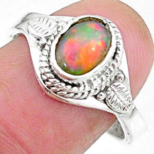 Halloween Sale 2.26cts Multi Color Ethiopian Opal Adjustable Ring Size 8 T8532