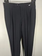 "Pal Zileri Vintage Black Striped 100% Pure Wool Pleated Pants 34"" x 36 ""  Mint"