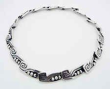 "Margot de Taxco Mexico 15"" Choker Necklace in Sterling Silver # 5122 Eagle #16"