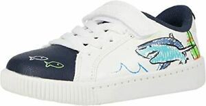 Boys' Carters Toddler & Little Kid Flagger Sneakers White Shark Size: 8, 10
