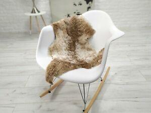 GENUINE TIBETAN SHEEPSKIN LAMBSKIN RUG CUTE CHAIR SOFA COVER CURLY HAIR T53