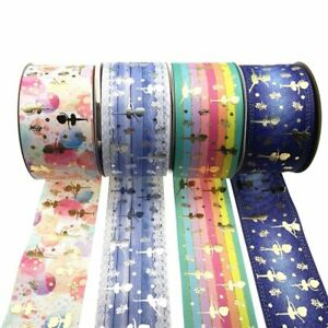 1 Yard Transfer Grosgrain Wrapping Accesso Bronzing Printed Thermal Ribbon Gifts