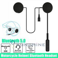 Rechargeable Bluetooth 5.0 Motorcycle Helmet Headset Speakers Handsfree w/Mic US