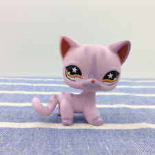 LPS Toy Littlest Pet Shop 933 Pink Purple Siamese Cat Star Eyes Kitty Collection