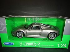 Welly Porsche 918 Spyder Hardtop Grey 1/24