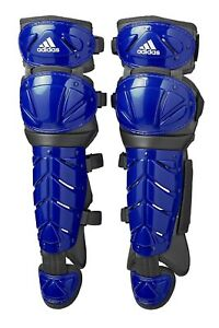 "Adidas Pro Series 2.0 17"" Baseball Softball Catcher Leg Guards Blue S98305 NEW"