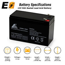 12V 9AH SLA AGM Battery Replaces RBC17, CP1290, HR9-12, BP8-12, UB1290, PS-1290