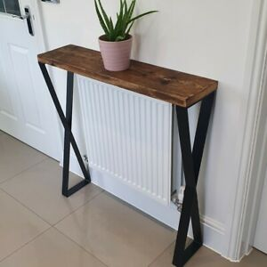 Console Table Reclaimed Timber X Frame Legs