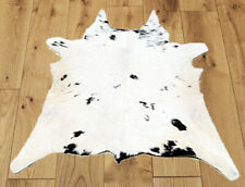 """New Calfhide Rugs Area Cow Skin Leather Cowhide ULG 45781 (29""""X28"""")"""
