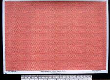 O CALIBRE (1:48 échelle) rouge / orange brique - PAPIER - A4 Feuille (210 x 297