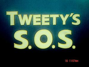 "16 MM  CARTOON: "" TWEETY'S  S. O. S ""   1951 Low  fade"