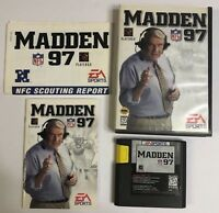SEGA Genesis NFL Madden 97 Game With Case & Manual & 1997 NFL Scouting Report