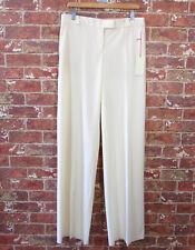 $650 AS IS Stella McCartney 40 Wool Pants Ivory Slacks Trousers Career NEW