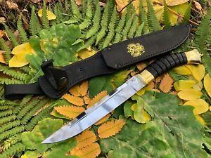 "legendary Cossack knife ""Plastunskiy"" fighting, hunting Forged steel 95x18"
