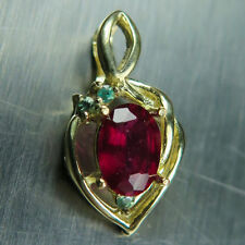 10 Carat Ruby Yellow Gold Fine Necklaces & Pendants