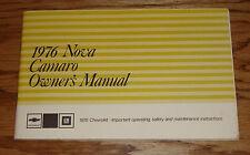 Original 1976 Chevrolet Camaro & Nova Owners Operators Manual 76 Chevy